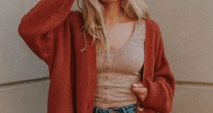 Campfire Cardigan in Brick