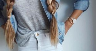 Cute outfit for school with braids