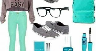 25 Stylish Winter Fashion Outfits for Teens 2019 Grey Turquoise   Awesome Fal...