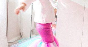 Mermaid Meerjungfrau Kostüm Kids DIY nähen Fasching Karneval