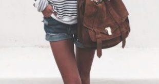 Streifen Converse & Shorts - der Style geht immer *** Streetstyle Stripes Conver...