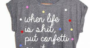 T-Shirts mit Spruch - Shirt Konfetti Blogger Hipster Vintage Punkte - ein Design...